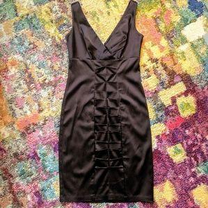 NWOT Calvin Klein Chocolate Silky Dress